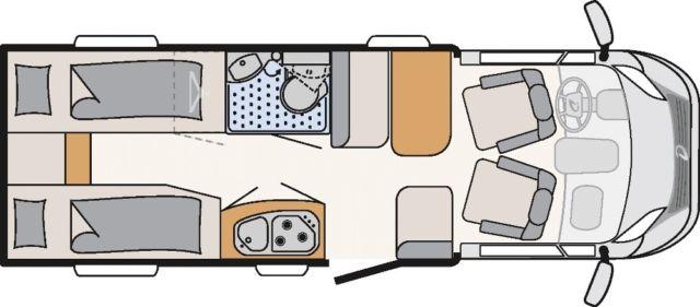 Globebus T4 Active Aut 2016 Plattegrond