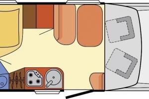 Plattegrond Dethleffs 5901
